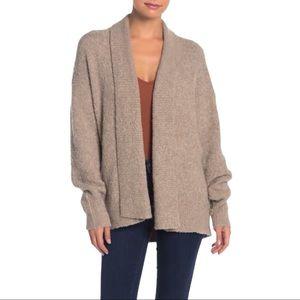360 Sweater Tiana Soft Knit Cardigan Wheat Large